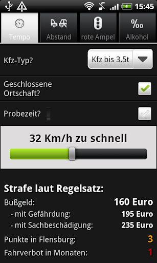 Bußgeldrechner 2.2 screenshots 1