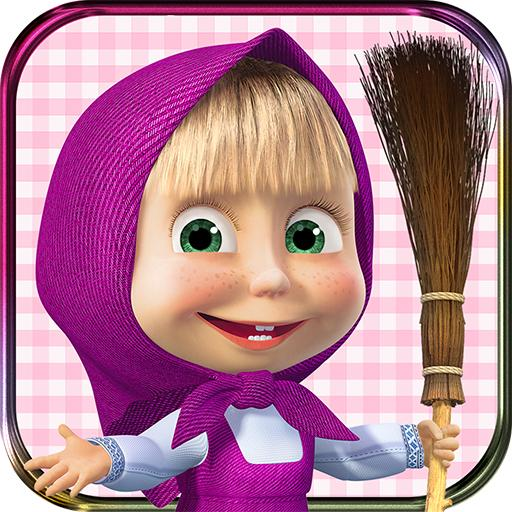 Masha and the Bear- House Cleaning Games for Girls