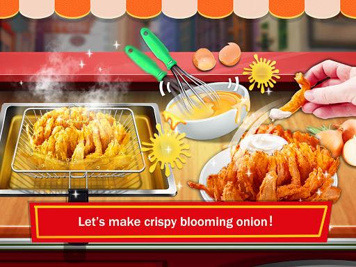 street food: deep fried foods maker cooking games screenshot 2