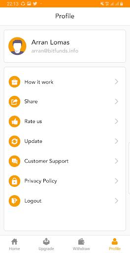 BitFunds - Crypto Cloud Mining  Screenshots 6