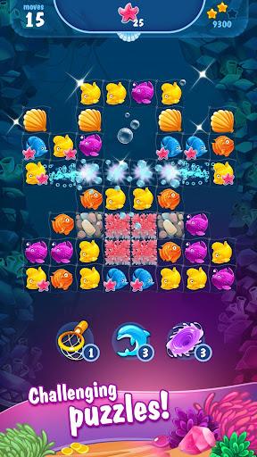 Mermaid - treasure match-3 modiapk screenshots 1