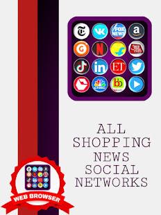 Web Browser: All Social Media Shopping & News App