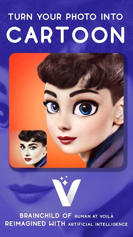 Voilà AI Artist - Photo to Cartoon Face Art Editor  poster 3