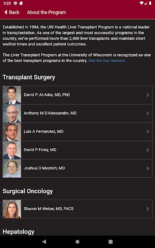UW Liver Transplant 1.0 Screenshots 8
