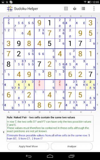 sudoku helper free edition screenshot 3