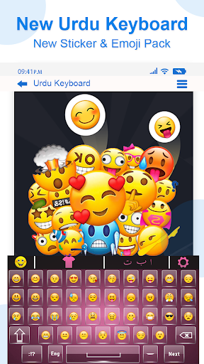 Urdu English Keyboard Emoji with Photo Background apktram screenshots 13