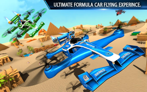 Flying Formula Car Games 2020: Drone Shooting Game apktram screenshots 12