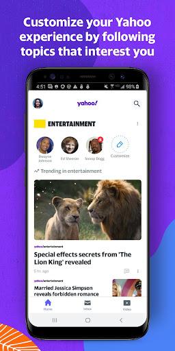 Yahoo - News, Mail, Sports Apkfinish screenshots 1
