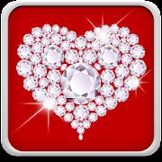 Diamond Hearts Live Wallpaper