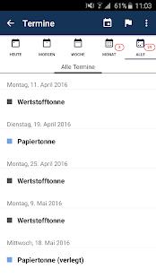 ALBA Abfuhrkalender Screenshot