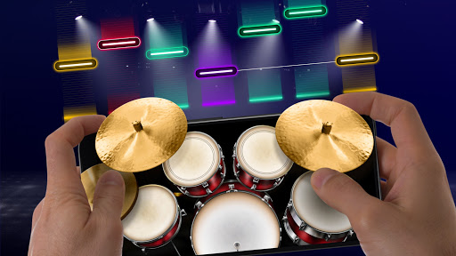 Drums: real drum set music games to play and learn apktram screenshots 4