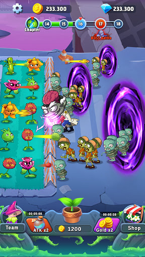 Plant Empires - Zombie War, Merge Defense Monster  screenshots 2