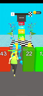 Fat run man cube pusher stack color 3d