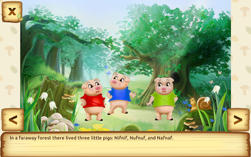Three Little Pigs - Fairy Tale with Games apkdebit screenshots 7