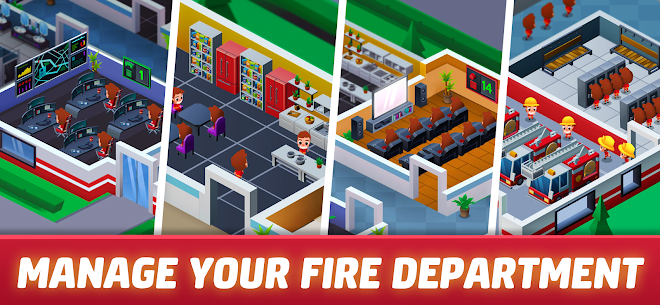 Idle Firefighter Tycoon Mod Apk- Fire Emergency Manager (Unlimited Money) 3