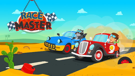 Racing car games for kids 2-5. Cars for toddlers 6