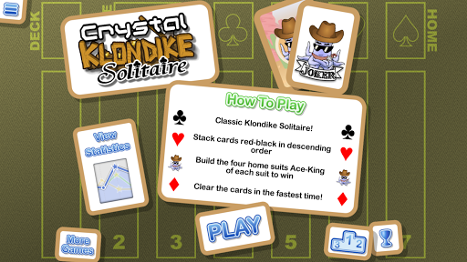 crystal klondike solitaire screenshot 1