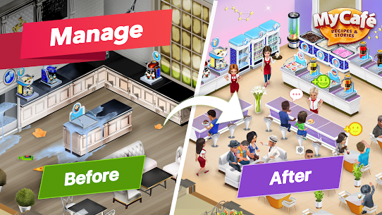 My Cafe — Restaurant game Mod Apk (Unlimited Money/Crystals/VIP 7) 3