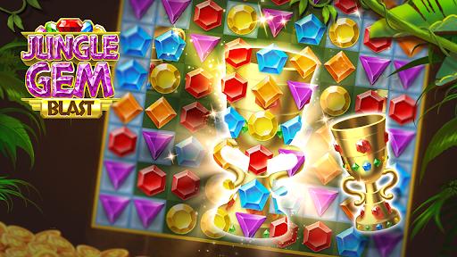 Jungle Gem Blast: Match 3 Jewel Crush Puzzles  screenshots 8