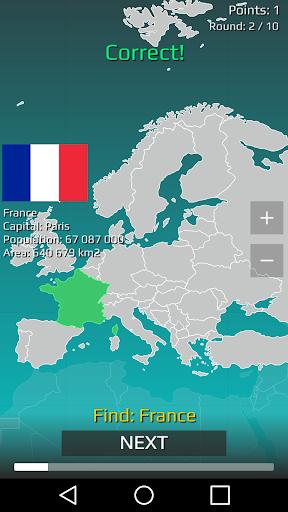 World Map Quiz 2.17 screenshots 1