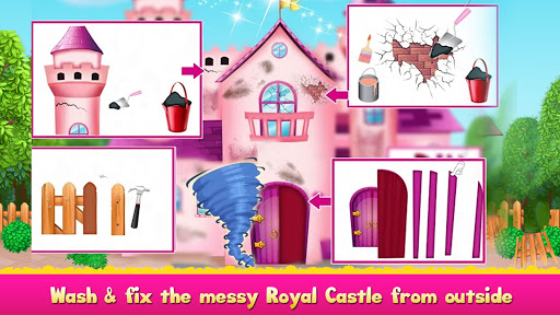 Cleaning games Kids - Clean Decor Mansion & Castle 8.1 screenshots 4