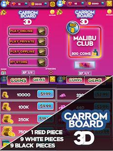 Carrom Board 3D: Online Multiplayer Pool Game 2021 screenshots 1