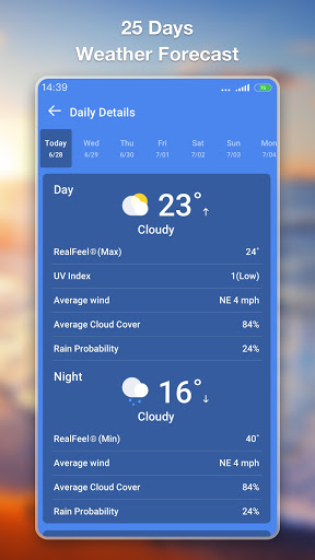 Weather Forecast - Accurate Local Weather & Widget 1.0.9 screenshots 8