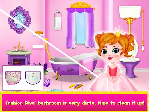 Cleaning games Kids - Clean Decor Mansion & Castle 8.1 screenshots 12