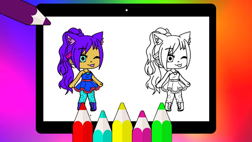 Coloring Pages for Gacha Club 2021 screenshots 15