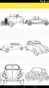 ColorFill - HotRod Cars Coloring Pages 1.4.0 screenshots 2