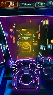 Neon Flytron: Cyberpunk Racer Mod Apk (Unlocked/No Ads) 3
