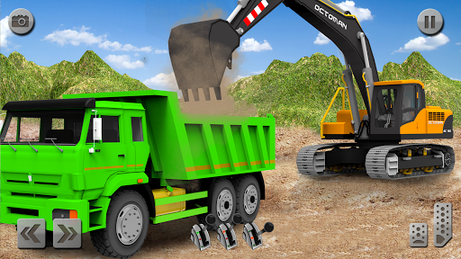 Sand Excavator Truck Driving Rescue Simulator game modiapk screenshots 1