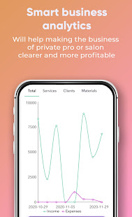 Daily planner app for beauty pro with reminders