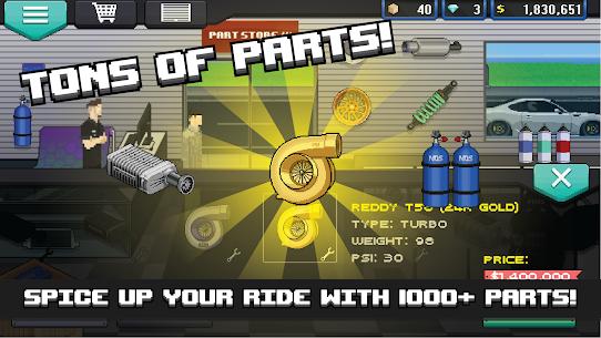 Pixel Car Racer MOD APK (Unlimited Money, All Unlocked) – Updated 2021 2