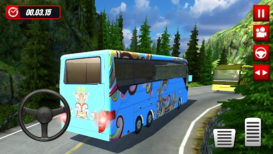 Hill Station Bus Driving Game [MOD Version] 3