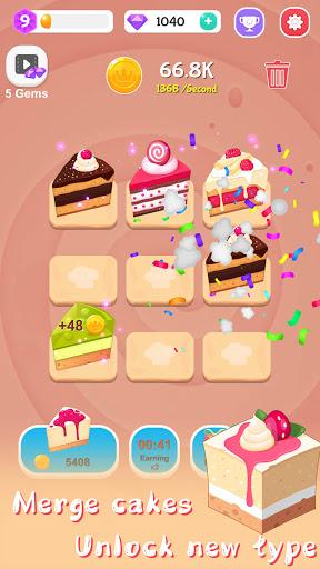 Merge Cake Mania - idle baking tycoon  screenshots 8