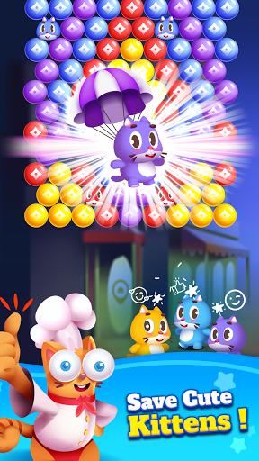 Kitten Games - Bubble Shooter Cooking Game apkmr screenshots 4