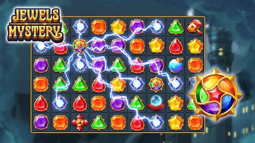 Jewels Mystery: Match 3 Puzzle apkslow screenshots 23