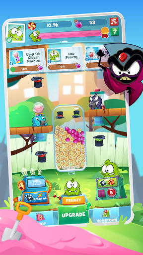 Om Nom Idle Candy Factory android2mod screenshots 2