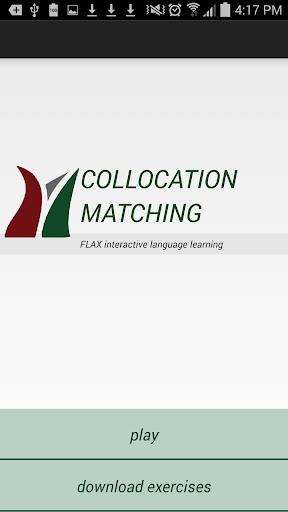 flax collocation matching screenshot 1