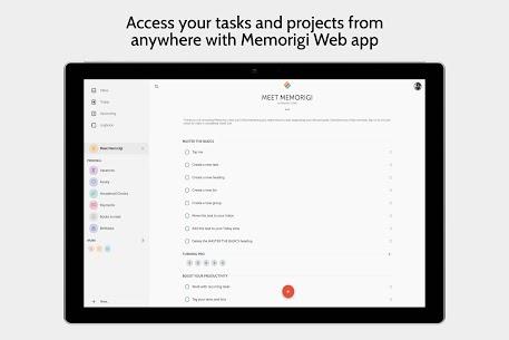 Memorigi MOD APK: To-Do List, Tasks, Calendar (PREMIUM) Download 10