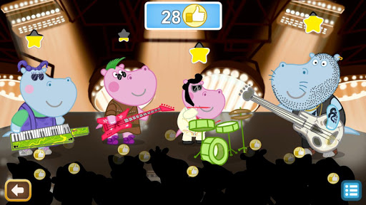 Kids music party: Hippo Super star screenshots 1