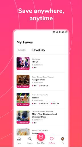 Fave - Deal, Pay, eCard  Screenshots 6