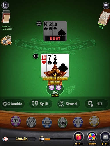 BlackJack 21 - blackjack free offline games 1.5.2 screenshots 7
