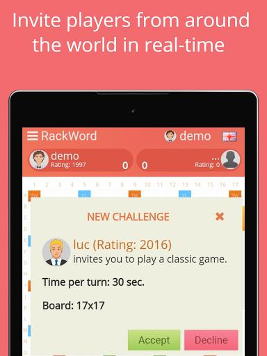 Rackword - Free real-time multiplayer word game screenshots 10