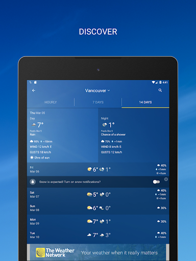 The Weather Network: Local Forecasts & Radar Maps screenshots 9