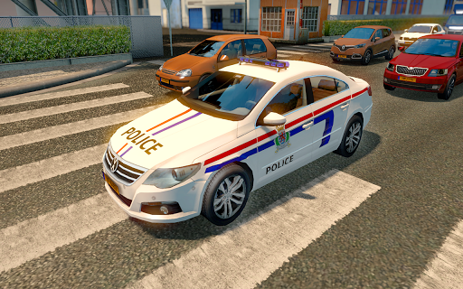 Police Car Spooky Stunt Parking: Extreme driving 1.1 screenshots 2