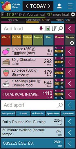 CalorieBase 2.70 screenshots 1