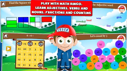 first grade games: trucks screenshot 2
