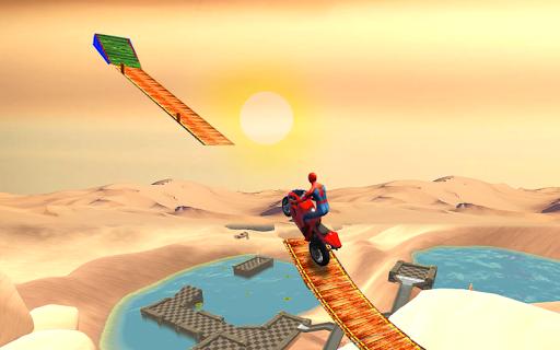 New Crazy Rope Spider Girl Bike Stunts Master 2021 screenshots 1